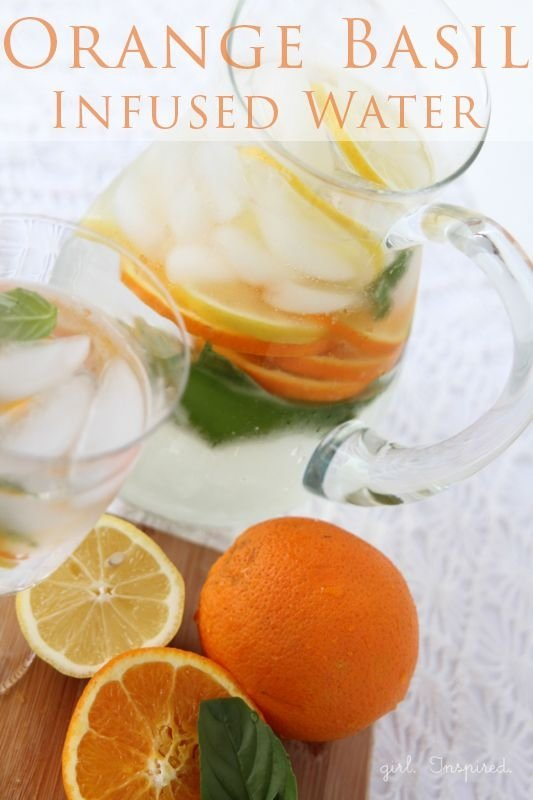 Orange Basil Infused Water