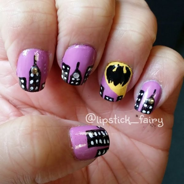 Gotham city these are the 31 best looking superhero nail art 30 gotham city prinsesfo Gallery