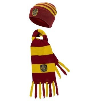 Harry Potter - Hogwarts Knit Beanie Hat and Scarf Set