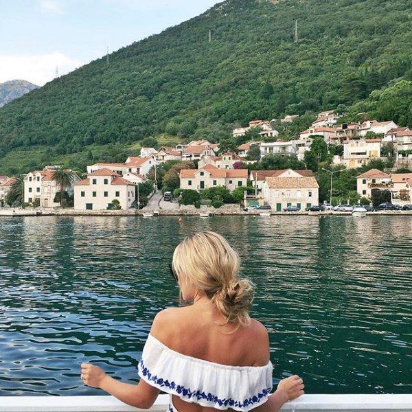 vacation, sea, lake, town,