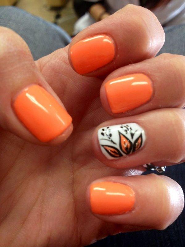color,finger,nail,nail care,orange,