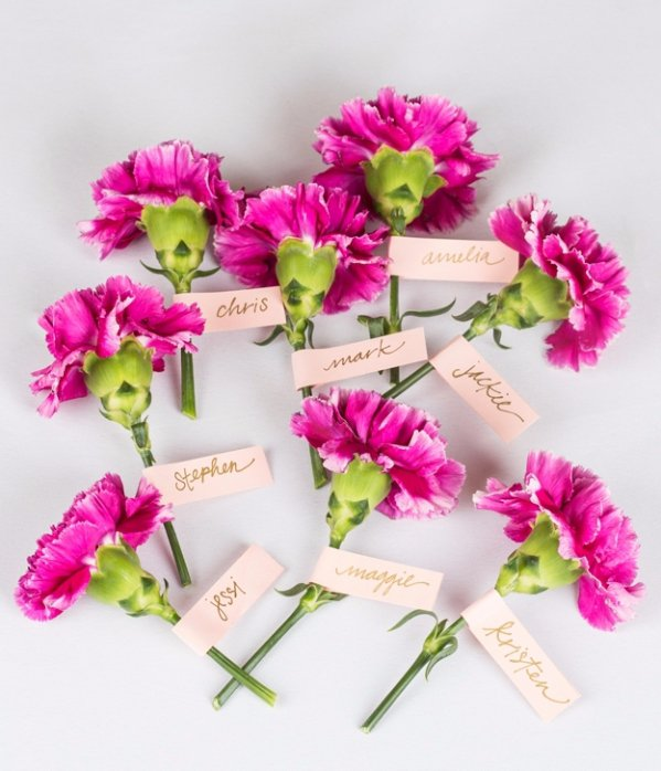 Place Cards with Flowers