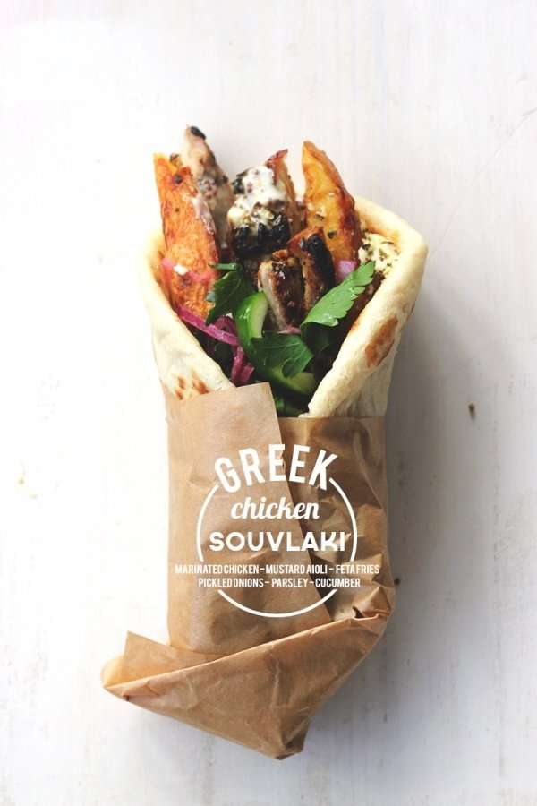 Chicken Souvlaki – the Ubiquitous Street Food