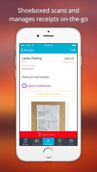 Shoeboxed Receipt Tracker