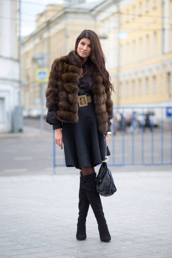 7 Bits Of Winter Street Style Inspiration From Chilly Russia Chic Styles