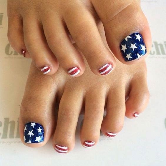 Eye Catching Pedicure Design Patriotic Nail Ideas To Look