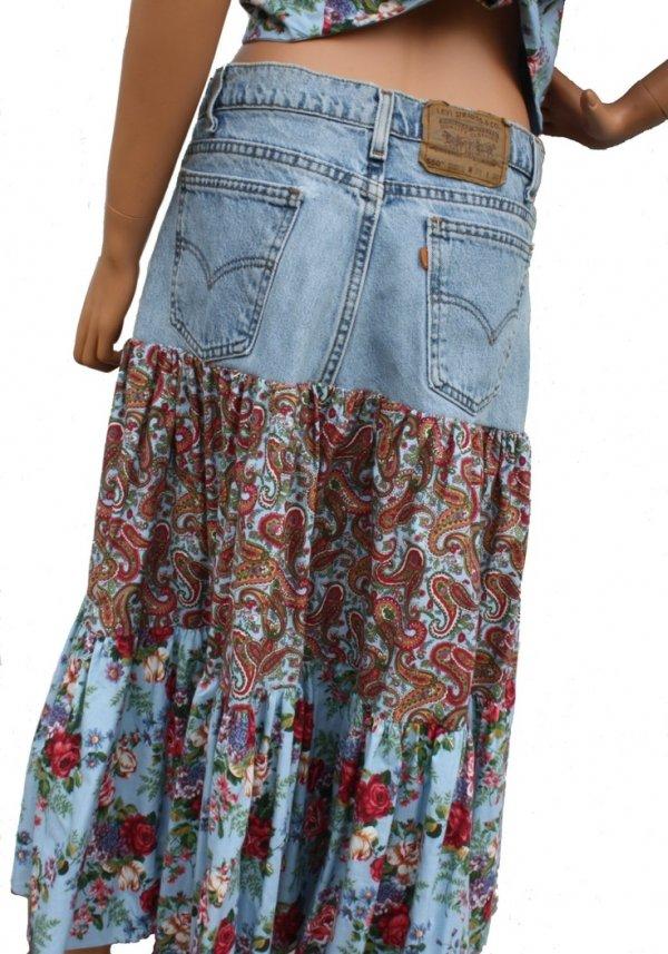 Boho gypsy chic bedroom - Boho Gypsy Skirt 26 Cool Ways To Customize Denim