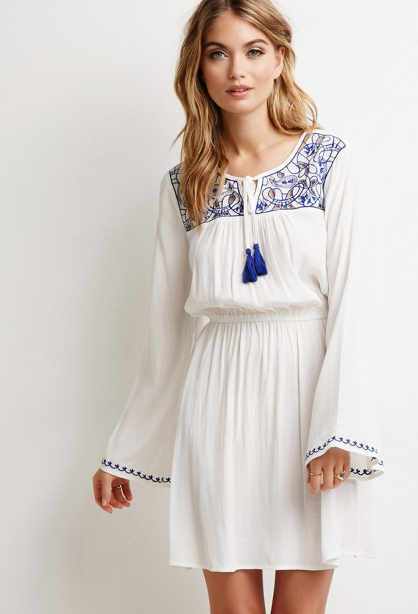 white,clothing,day dress,sleeve,dress,