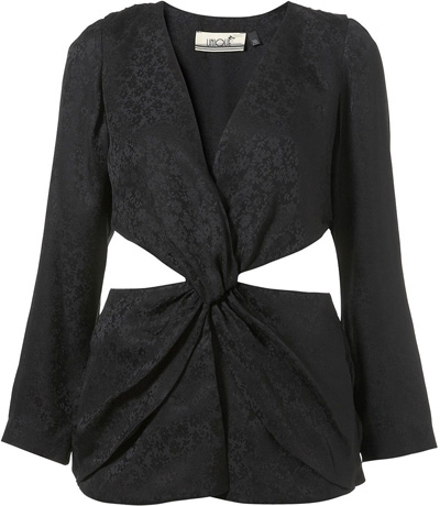 Topshop Unique Jacquard Twist Blouse