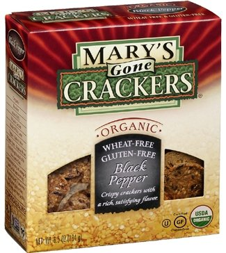 Mary's Gone Crackers with Hummus