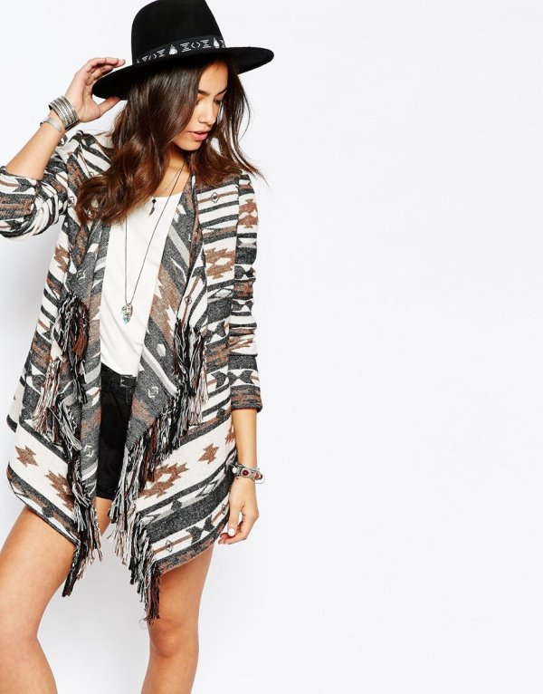 Print Waterfall Jacket