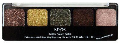 NYX Glitter Cream Palette 09 Sweet Chocolate Browns