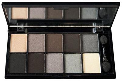 NYX Cosmetics Eye Shadow Palette 10 Color, Smokey Eyes