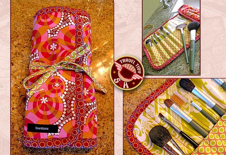Roll Up Makeup Brush Case 7 Easy To Make Diy Makeup