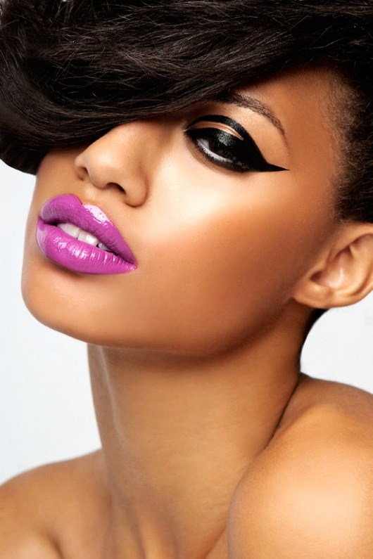 Give Lacquered Lips A Go - 7 Fantastic Make Up Tricks For Darku2026