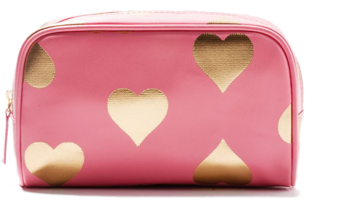 Heart Print Makeup Bag