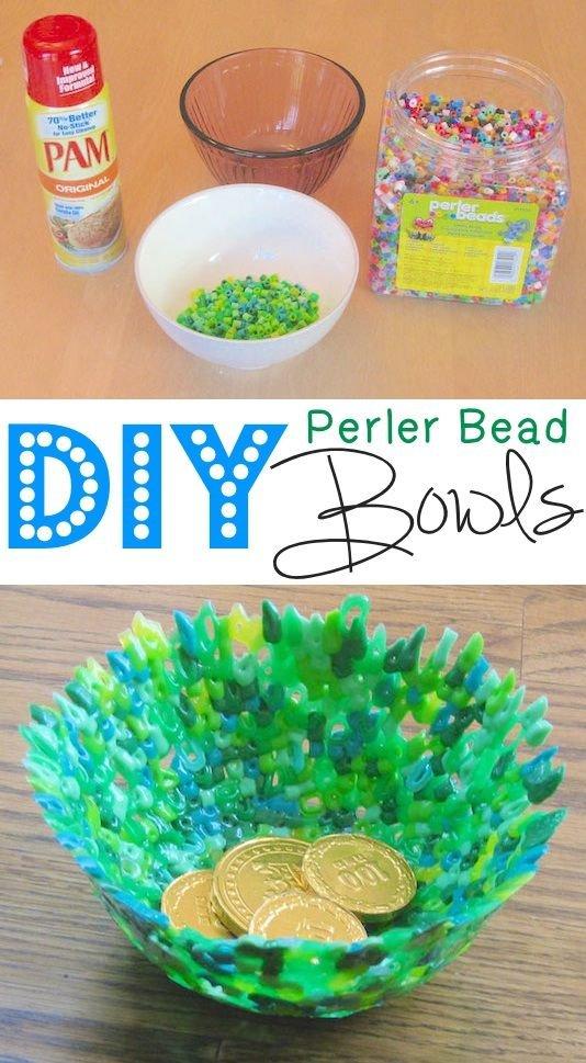 DIY Perler Bead Bowls