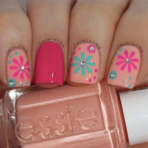Floral Manicures For Spring And: 40 Awesome Beach Themed Nail Art