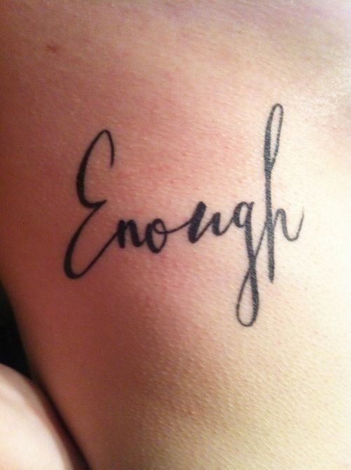 34 of the best word tattoos you 39 ll ever see for Eyeliner tattoo mn
