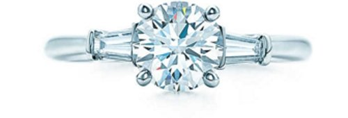 Tiffany round Brilliant with Tapered Baguettes