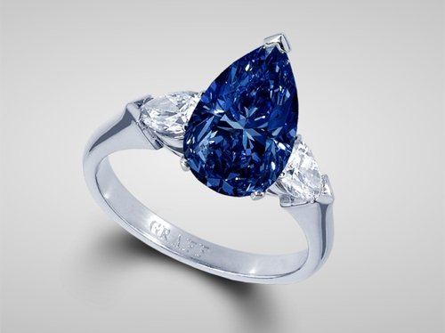 Graff 3-carat Pear-shaped Stone Ring