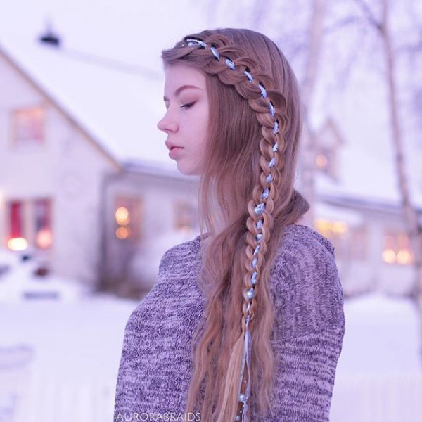clothing, hair, hairstyle, lavender, lilac,