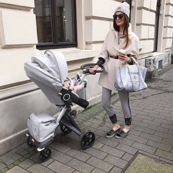 baby carriage, human positions, product, sitting, footwear,