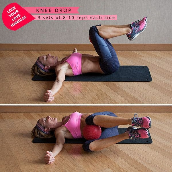 Knee Drop - The Fun Firm-up: These 30 Gym Ball Exercises ...