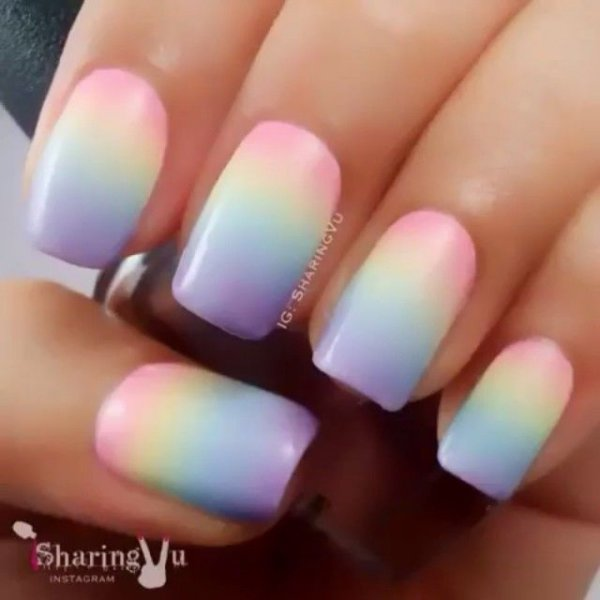 Pastel Rainbow Grant 43 Ideas For Ombre Nails That Will