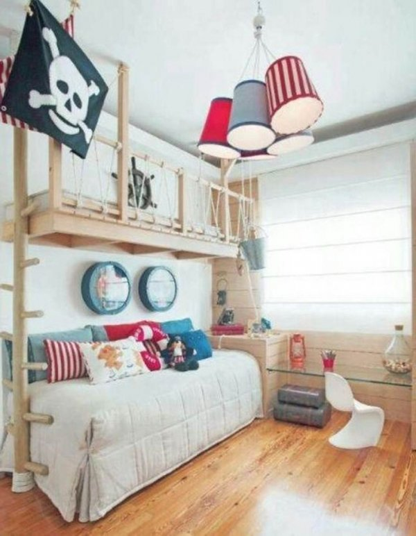 Pirate Theme. Via Awesome Little Boys Bedroom Ideas .