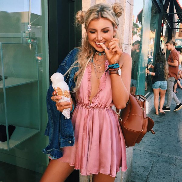 clothing, turquoise, hairstyle, blond, cocktail dress,