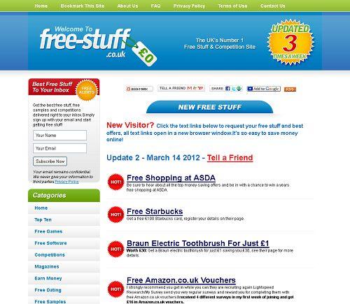 Freebies websites uk