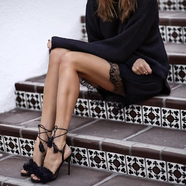 clothing, black, leg, human positions, footwear,