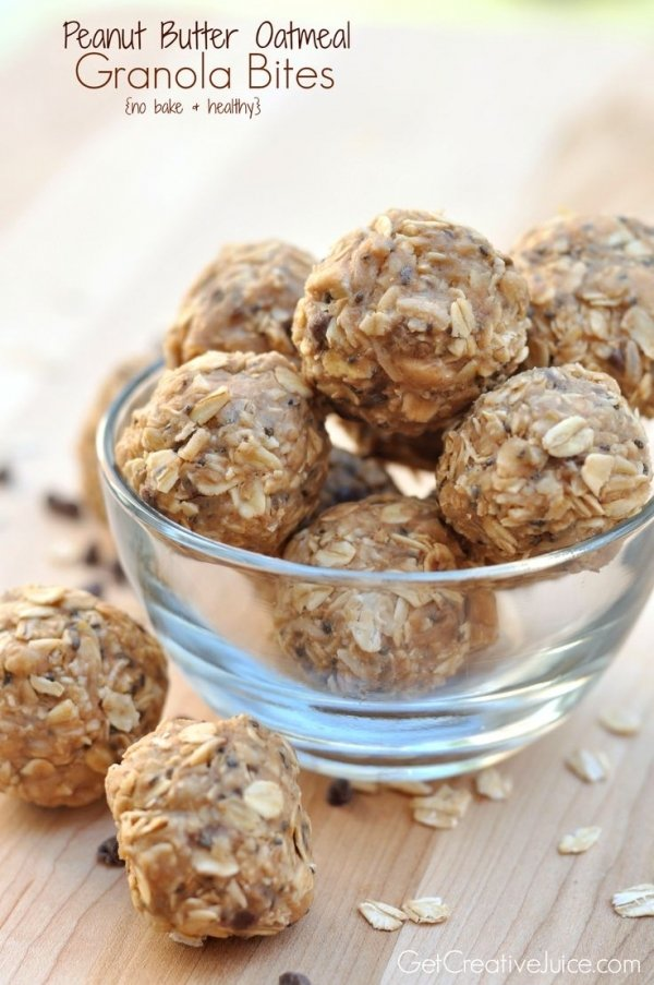 Peanut Butter Oatmeal Power Bites