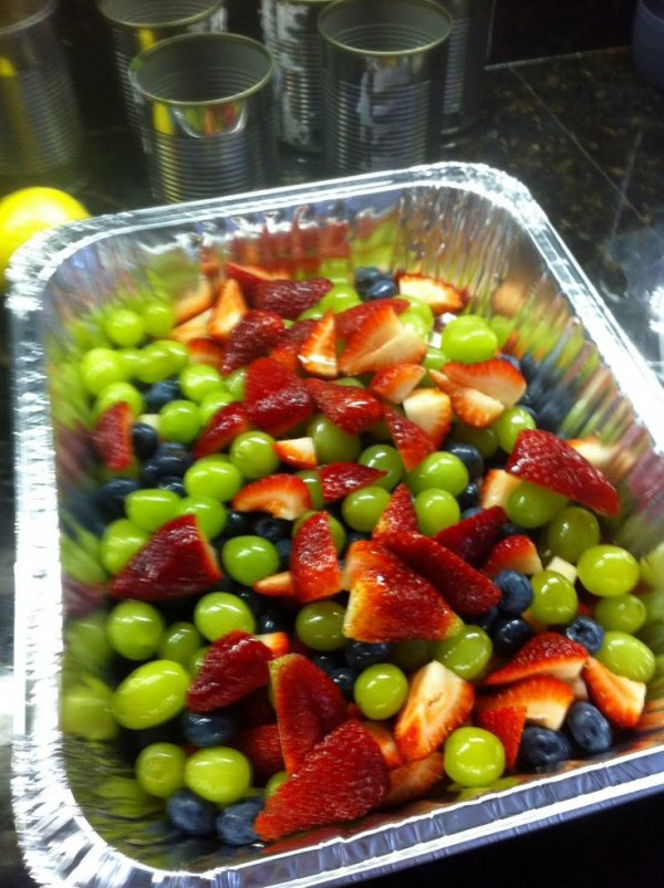 Via Fruit Salad with Honey-Lime Dressing