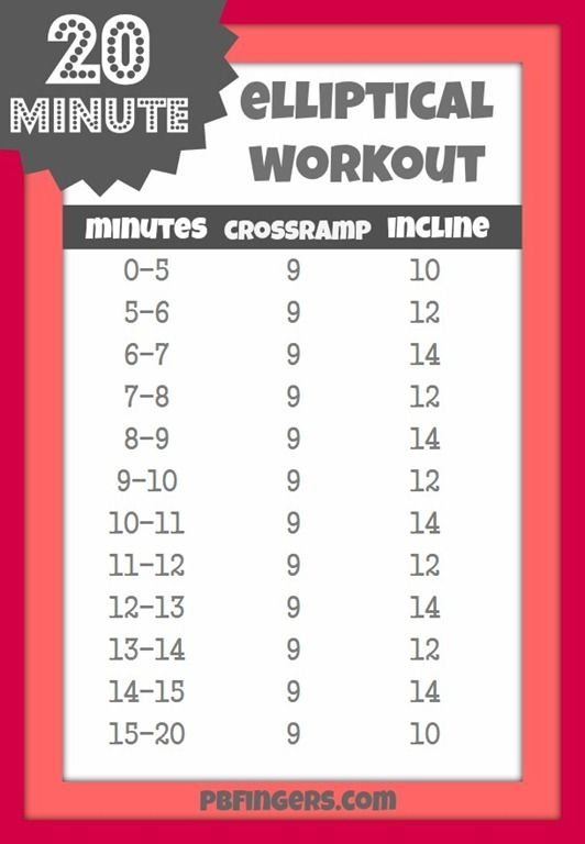 elliptical machine workouts to lose weight