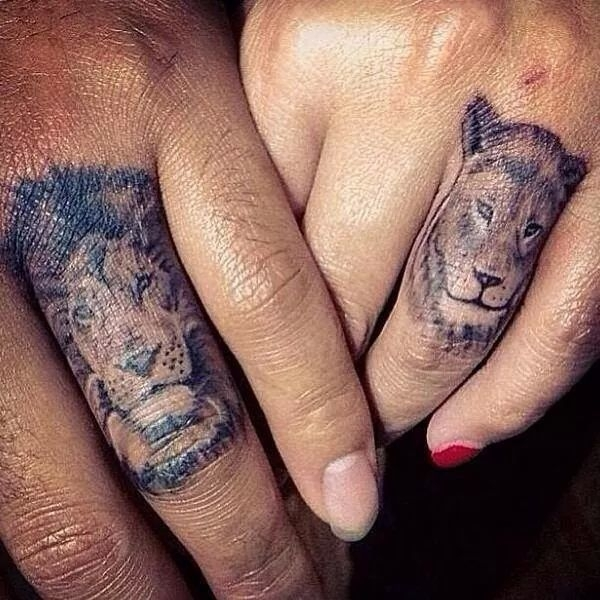 17 creative his and hers lions 32 of the best couples for His and her matching tattoos