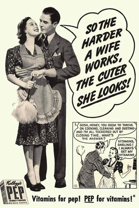 Take Your Vitamins...so You Can Work Harder for Your Husband?!