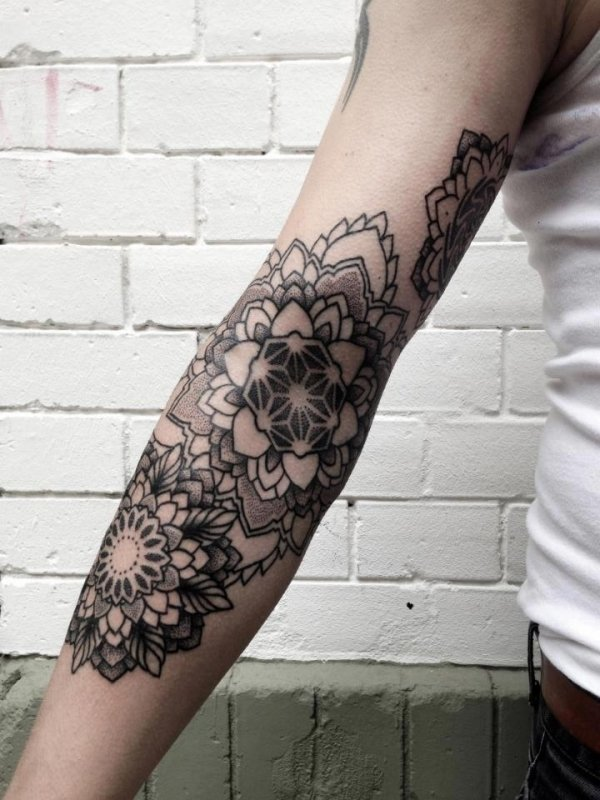 2. Back of Your Arm - 7 Awesome Mandala Tattoo Placements You Should…