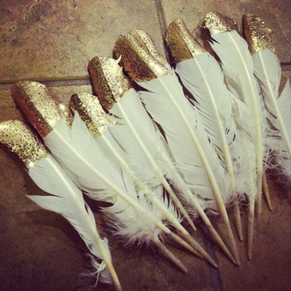 Gold-dipped Feathers