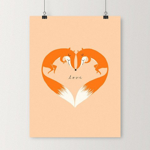 I Love You Foxy,organ,logo,brand,illustration,
