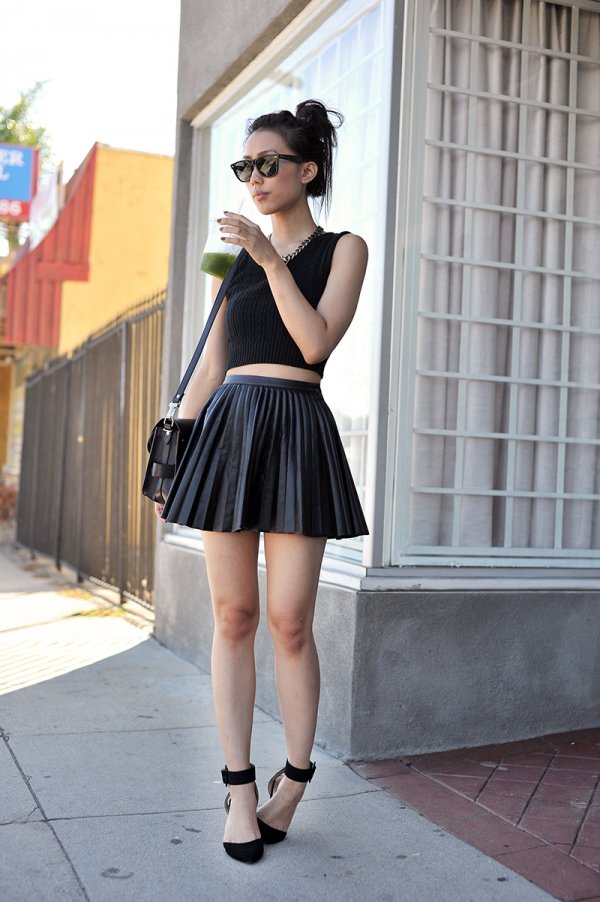 Faux Leather Skirt - Outfit Ideas for Coachella 2015 ... → …
