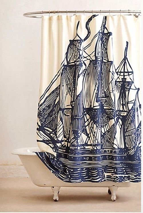 Nautical Theme 25 Fantastic Shower Curtains To Spice Up
