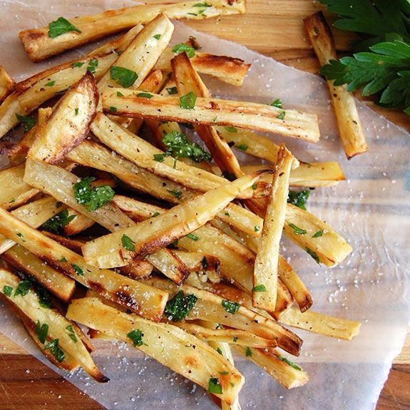 Addictive Parsnip Fries with Truffle Oil - Root Vegetable Recipes ...