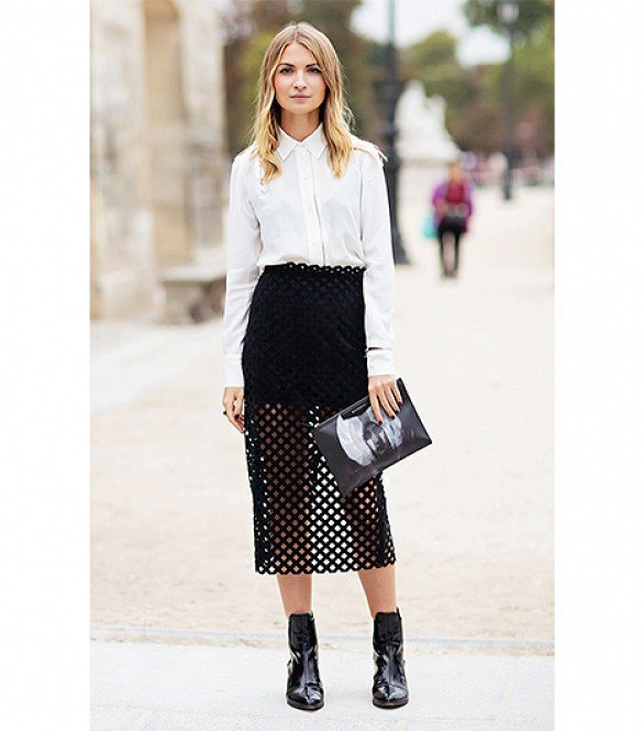 A Mesh Skirt is Unusual and Cool!