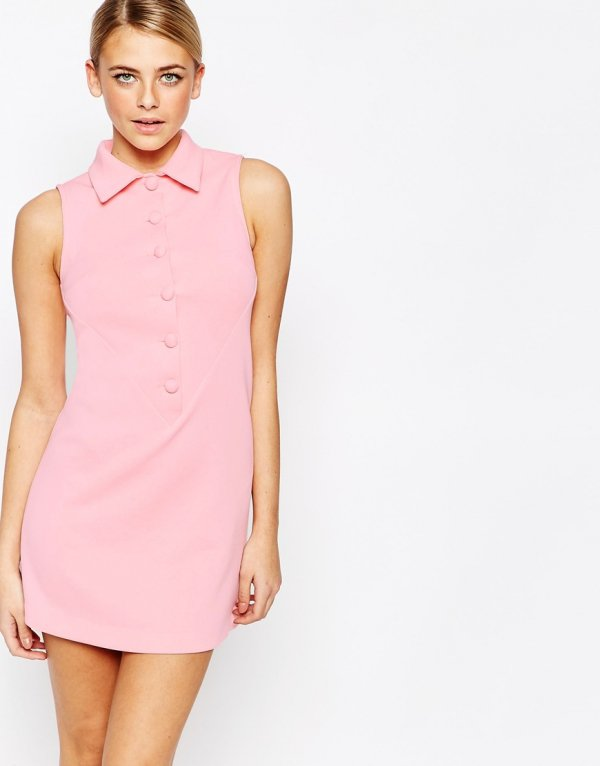 Fashion Union 60's Retro a Line Shift Dress
