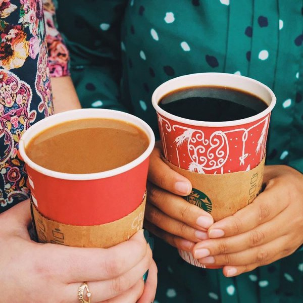 cup, coffee cup, hand, food, pattern,
