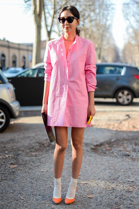 Get Cozy in a Shirtdress