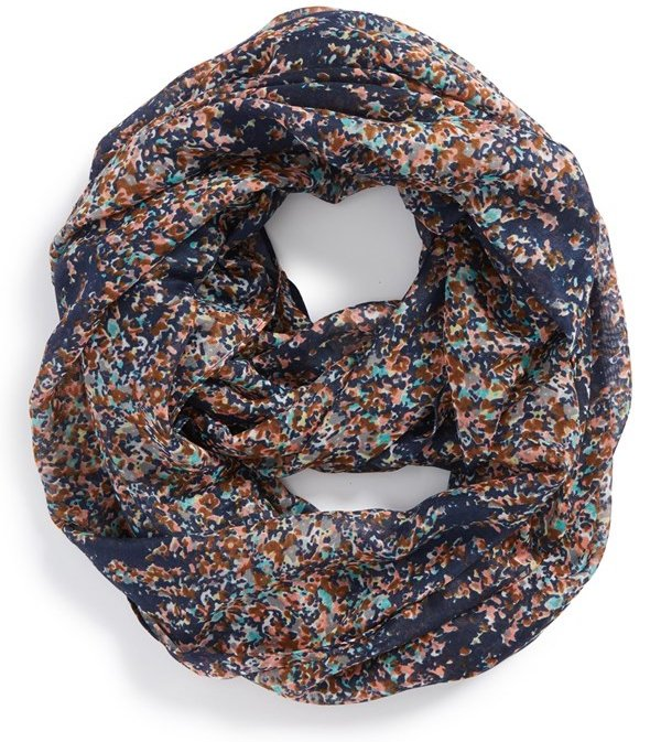 Scattered Ditsy Floral Print Infinity Scarf 45 Infinity