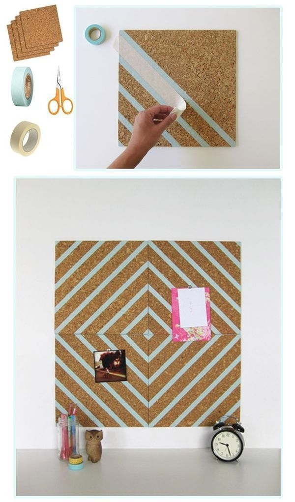 Diy Decorative Cork Board 34 Diy Dorm Room Decor